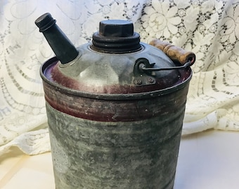 Vintage Industrial Farmhouse Galvanized Metal Gas Can