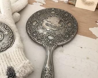 Vintage Hand Mirror/Boudoir Vanity