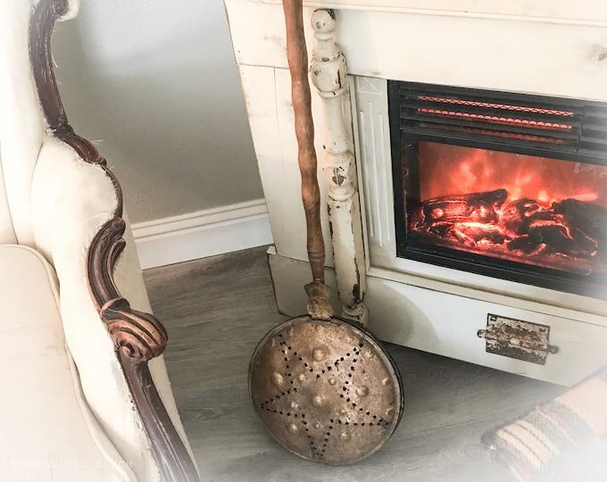Featured listing image: Vintage Copper Bed Warmer*Primitive Farmhouse