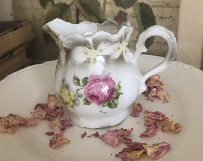 Featured listing image: Sweet Vintage Porcelain Pitcher*Creamer*Shabby Chic Cottage