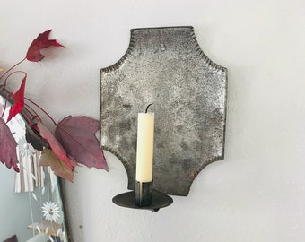 Vintage Primitive Colonial Farmhouse Candle Sconces