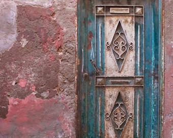 Marrakech Photography, Marrakech Door, Morocco, Architecture, Pink, Teal, Photography, Fine Art Prints, Travel Photography, Wall Art, Africa