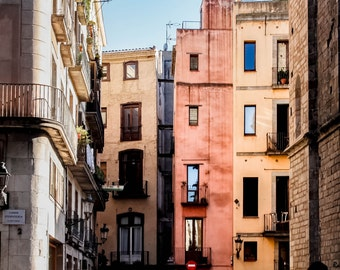 Barcelona Architecture, El Born,  Facades, Buildings, Spain, Photography, Fine Art Prints, Travel Photography, Wall Art