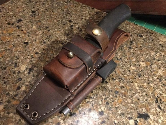 Image result for knife sheath with ferro rod and tinder pouch