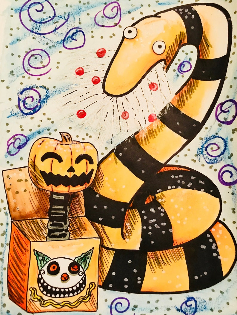 Nightmare Before Christmas Creatures painting