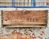 Old Export Beer Crate Cumberland Brewery MD Breweriana Vintage Antique Advertising Display Piece Bottle Box Wooden Wood Rustic Industrial