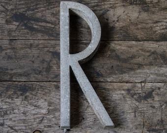 """Vintage Retro Aluminum Letter L 3/"""" House Sign Address Letter L 40s 50s"""