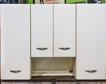 Superieur Vintage Metal Kitchen Cabinets Mid Century Modern Upper Cabinet LARGE STEEL  Cabinets Chrome Handles 1950s Kitchen Retro Decor HUGE Cupboard