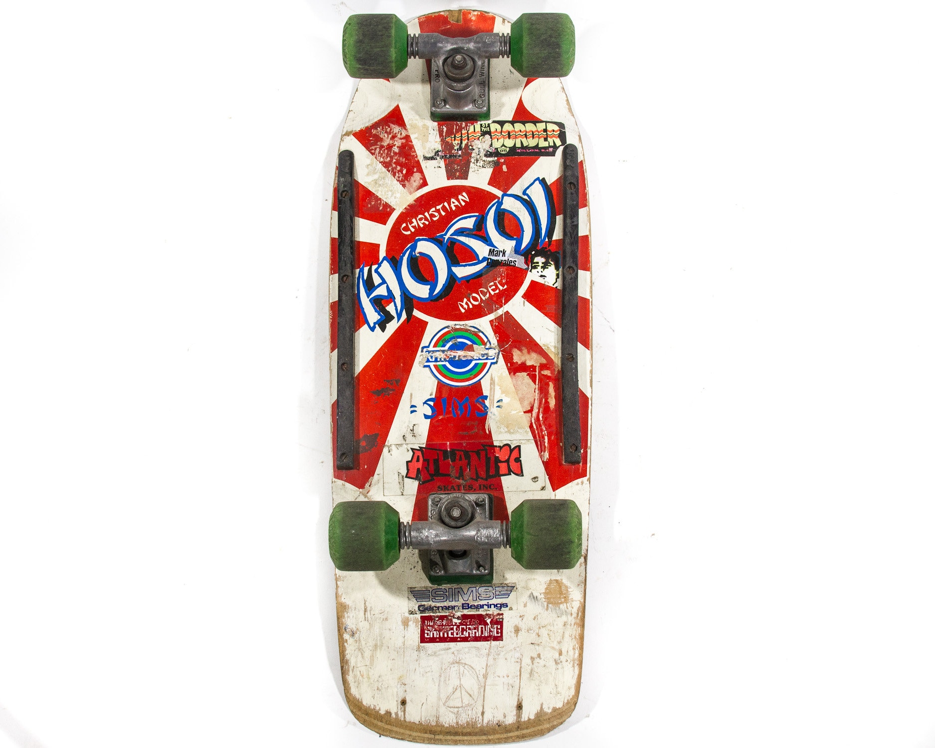 Recycled Skateboard boucle sangle Web Ceinture Fait Main Homme Femme Garçons Filles