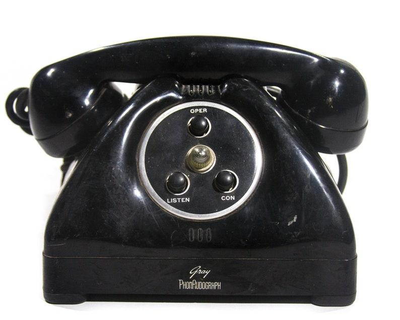 Jahrgang Telefon Mitte Jahrhundert moderne Deco industriellen   Etsy