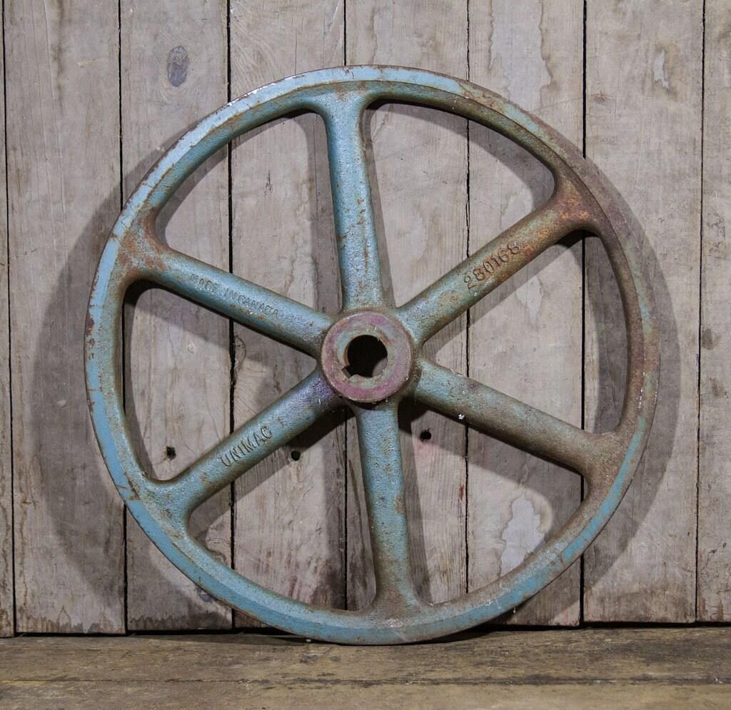 Antique Vintage Small Cast Iron Railroad Cart Wheels Industrial Steampunk Decor