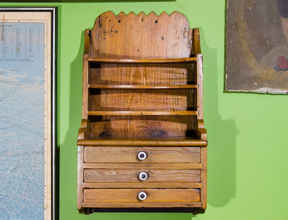 image 0 - Antique Dental Cabinet Apothecary Shelf With Drawers Dentist Etsy