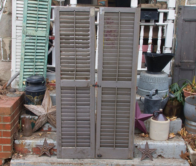 image 0 - Large Antique Shutters Vintage Pair Of Shutters Rustic Shutter Etsy