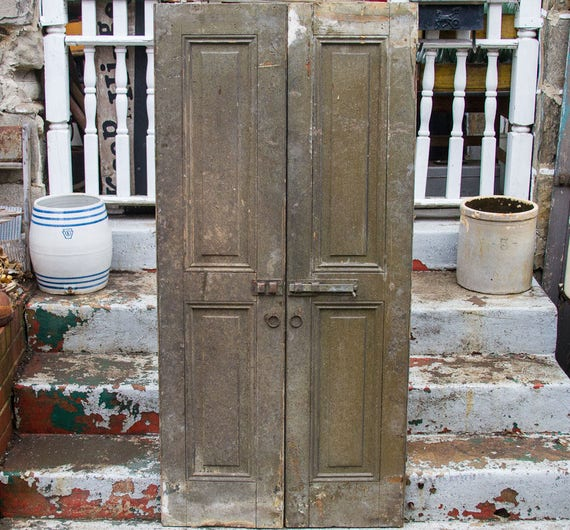 image 0 - Antique Shutter Doors 67'' X 16'' Rustic Home Etsy