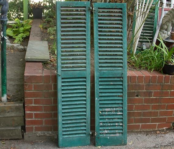 Antique Shutters Vintage Shutters Large Wood Shutters Etsy