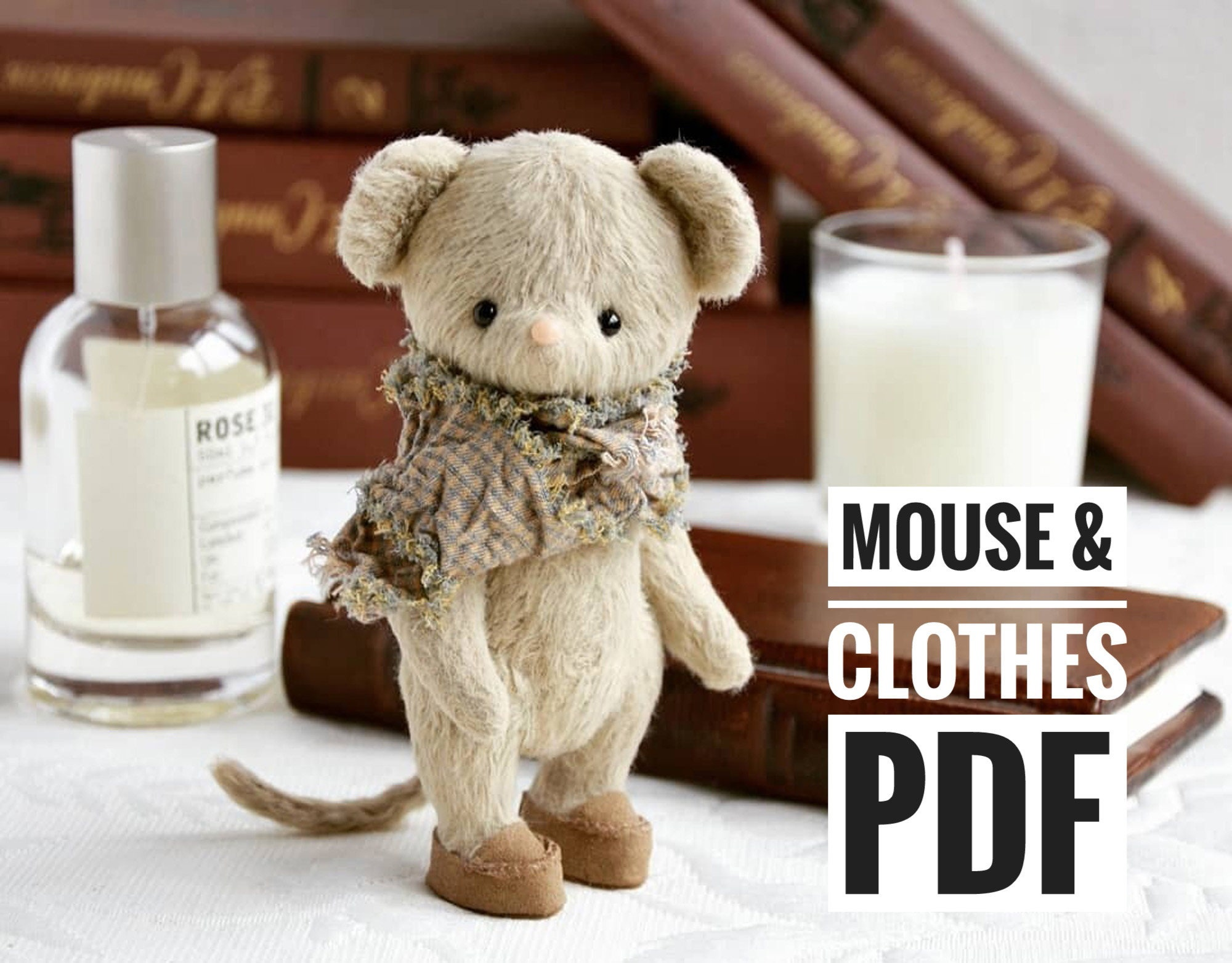 Teddy mouse sewing pattern Pocket mouse pattern Teddy Mouse Pattern Sewing Pattern Teddy bear Mouse plush stuffed toy Mouse toy pattern