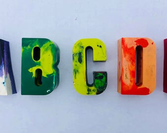 Crayon Letters- Customizable Colors