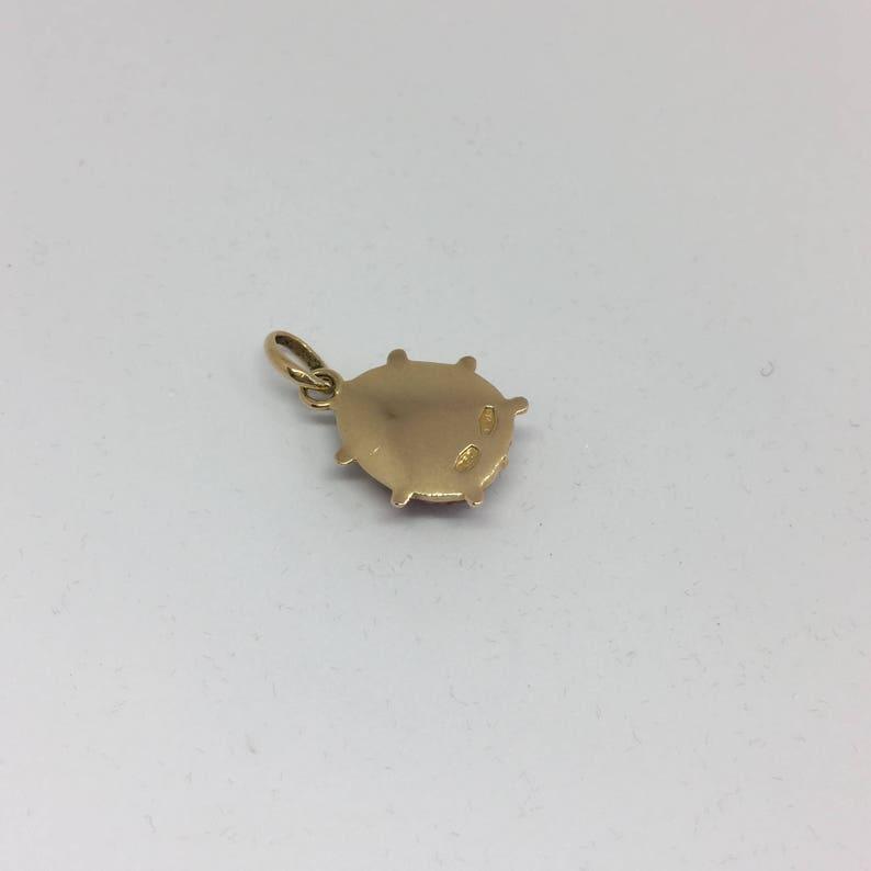 Large 18ct gold ladybird charm