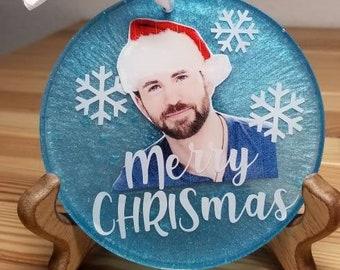 Merry CHRISmas Chris Evans Christmas Ornament︴Funny Gift for Chris Evans Fan︴Avengers Christmas Ornament︴FREE SHIPPING