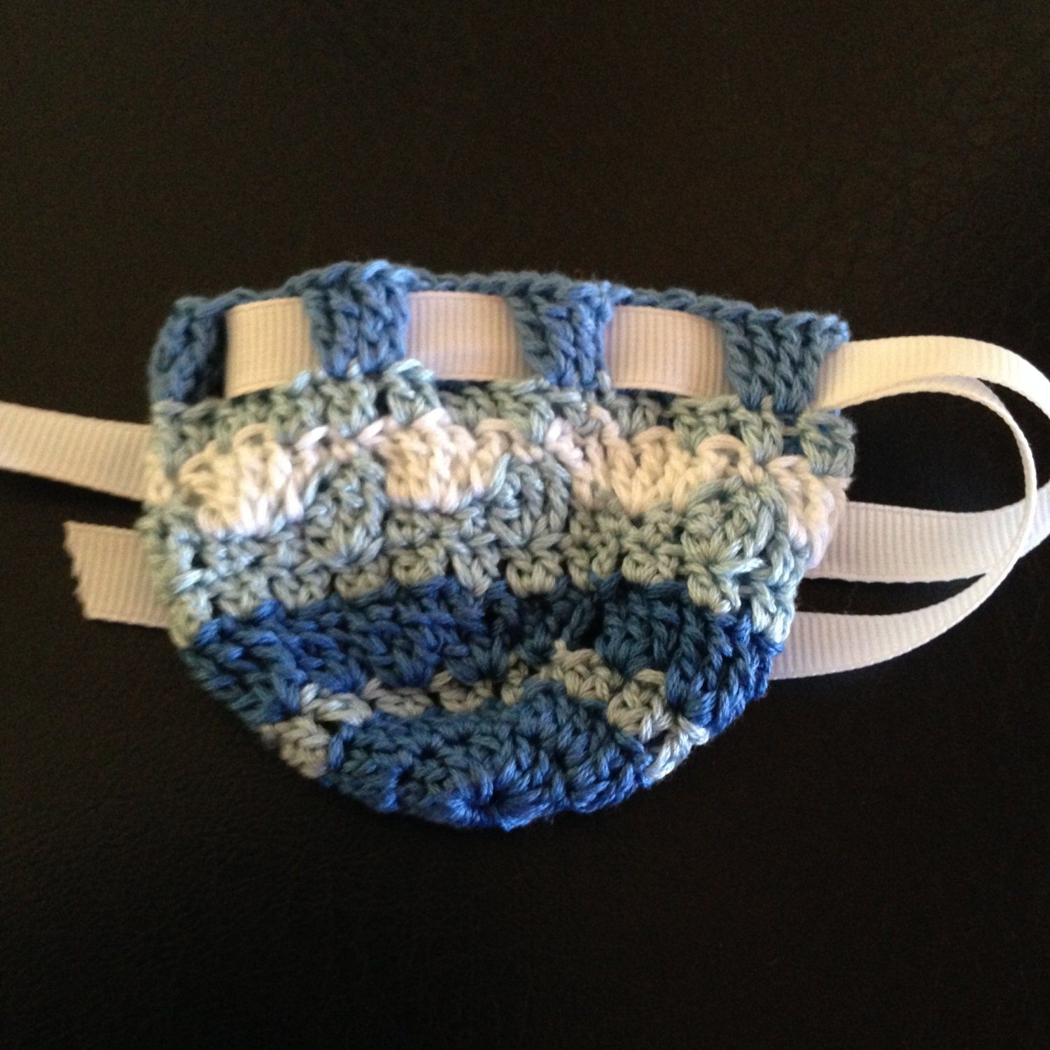 Blue Crocheted Rosary Pouch Etsy