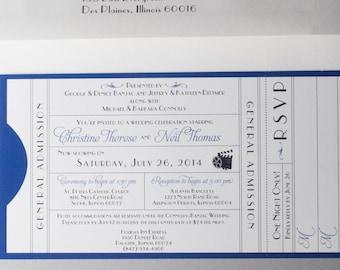 Printable Movie-Themed Wedding Invitation Suite