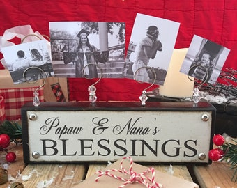 personalized grandparents blessings photo display grandparents parent friend christmas gifts - Grandparent Christmas Gifts