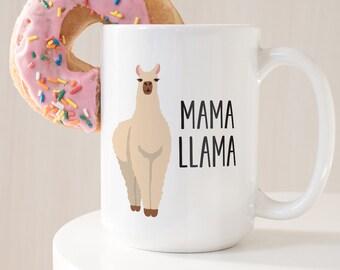 Llama Mug, Mama Llama Mug, New Mom Gift Idea, Funny Llama Stocking Stuffer, Gift For Mom, Christmas Gift under 25