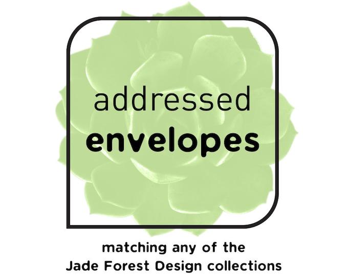 Custom Envelopes with Guest & Return Address Printing {or} Blank ▷ INVITE {or} RSVP Envelopes