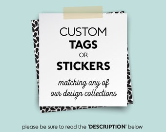 Custom Wedding Favor Tags or Stickers / Gift Tags / Wedding Tags with String, Sticker Labels