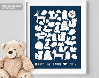 Woodland Baby Shower, Guest Book Sign,  Guestbook, Canvas Guest Book, Custom Guest Book, New Baby Gift, Printable, Personalized Gift, Ideas
