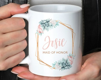 2553f05e3bd Succulent Maid of Honor Mug