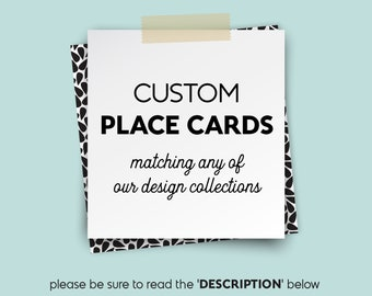 Custom Place Cards, Wedding Seating Cards, Escort Cards, Folded Tent Card > PRINTED Place Cards matching any of the collections in my shop