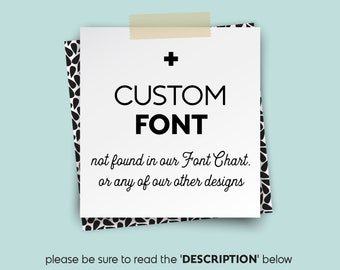 CUSTOM FONTS • • • Design {UPGRADE}