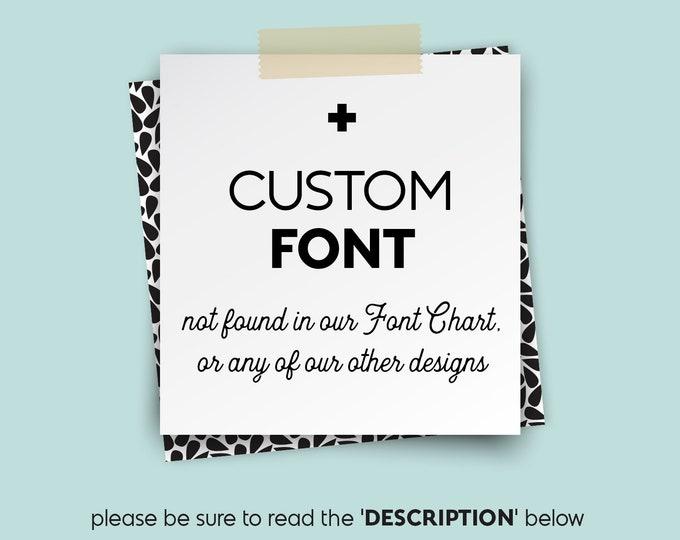 CUSTOM FONTS • • • Design {UPGRADE}