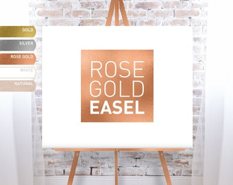 Rose Gold Easel for Wedding, Easel Stand for Wedding Sign, Large Floor Easel - FREE SHIPPING!