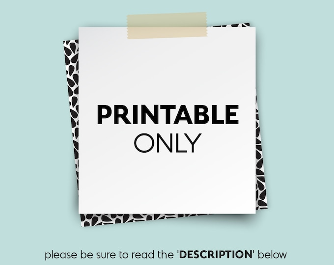 PRINTABLE ONLY ▷ for international orders