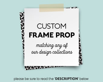 Custom Photo Prop Frame / Photobooth Prop, Photo Booth Frame, Waterproof Selfie Frame