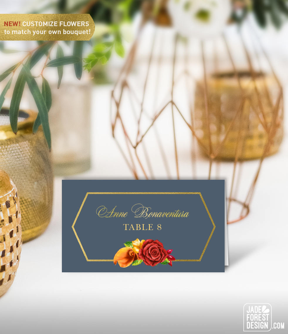 Fall Name Cards Wedding Place Cards