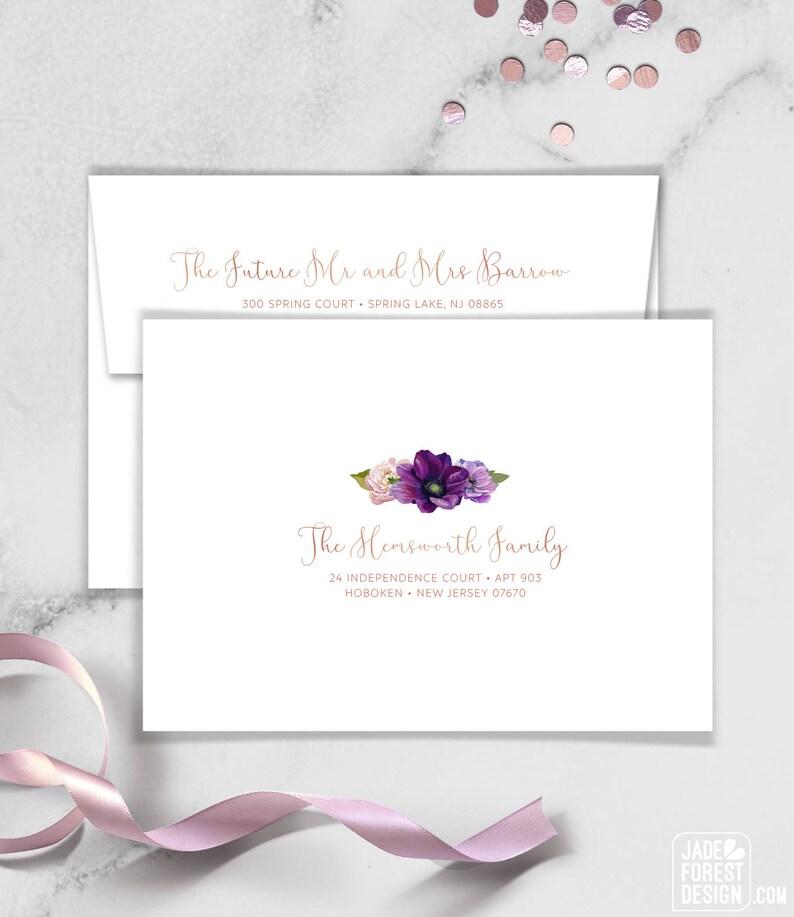 Purple Envelopes with Guest & Return Address Printing / Purple image 0