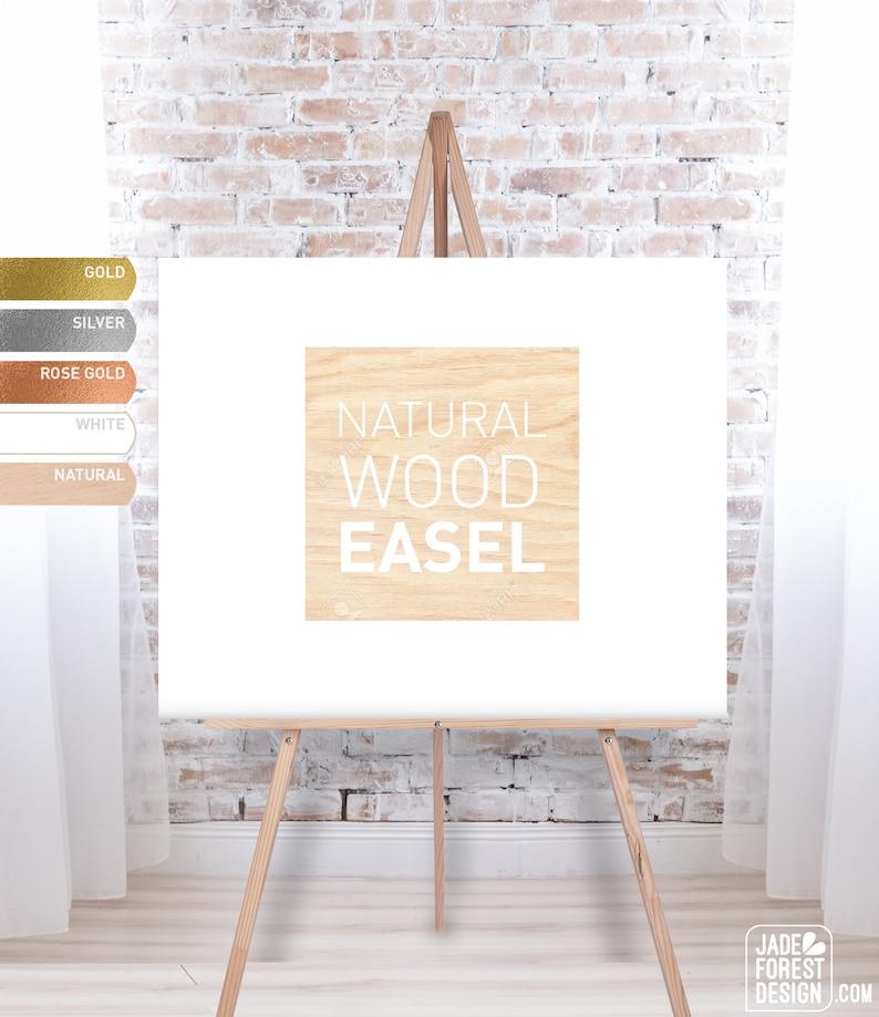 Wedding Easel Wooden Easel Easel Stand Easel for Wedding image 0