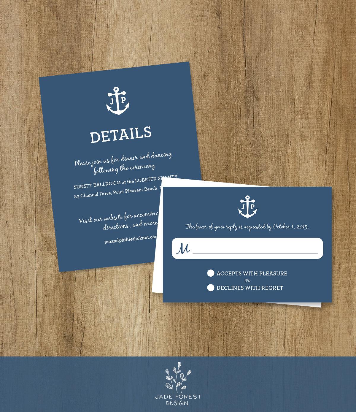 Invitations Set Tone Timeless: Nautical Wedding Invitation Set, Wedding Suite
