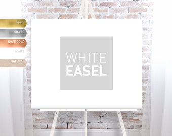 White Easel for Wedding, Wood Easel Stand for Wedding Signs, Floor Easel, Large White Display Stand - FREE SHIPPING!