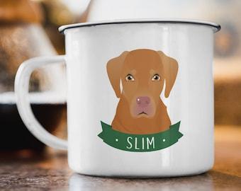 Vizsla Mug, Dog Parents Gift Idea, Stainless Steel Camping Mug Personalized Dog Cartoon, Pet Lover Christmas Gift under 30, Vizsla Gift