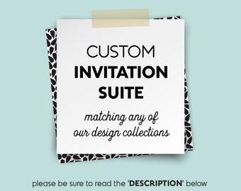 Custom Wedding Invitation Suite  / Invite Set /  ▷ Printed Wedding Invitations {or} Printable