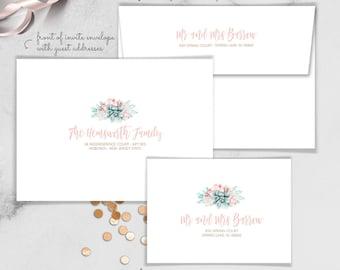 Invitations + Envelopes