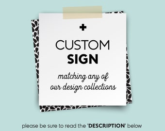 Your Custom Text Poster / Wedding Sign DIY ▷ Printable File {or} Printed & Shipped