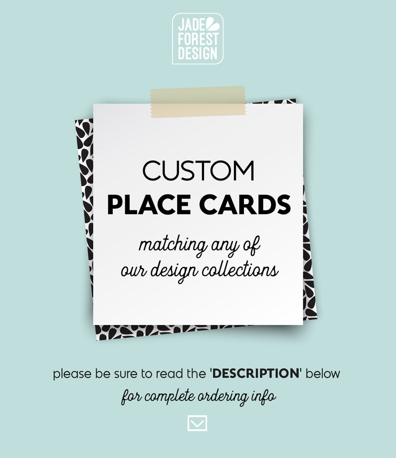 Custom Place Cards Wedding Seating Cards Escort Cards image 0