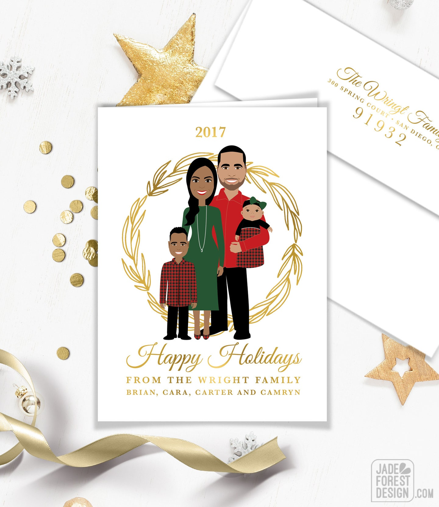 first christmas card portrait family portrait holiday card