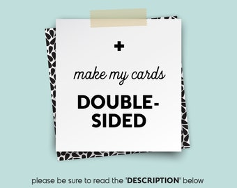 Make it DOUBLE-SIDED (Add A Back) • • •  Design {UPGRADE}