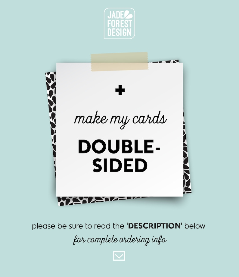 Make it DOUBLE-SIDED Add A Back     Design UPGRADE image 0